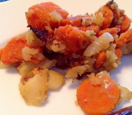 fenouil braisé aux carottes et pommes de terre