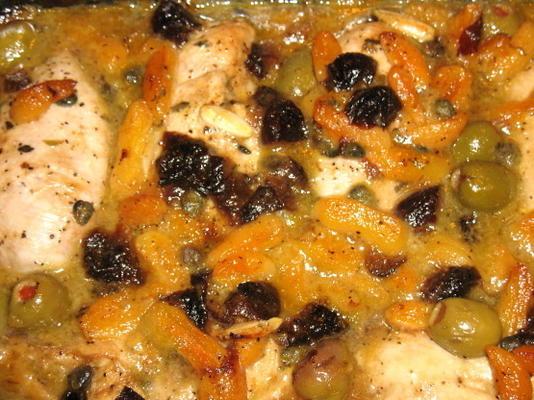 poulet méditerranéen aux abricots secs et pruneaux