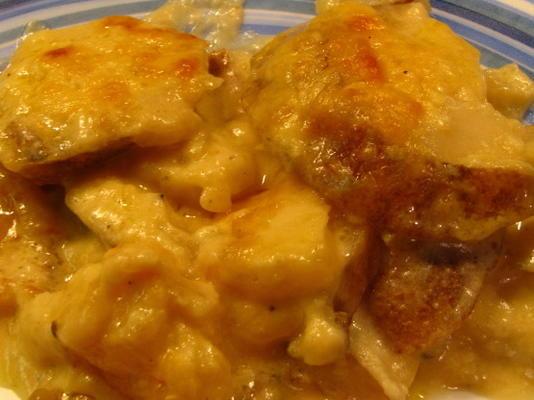 gratin de pommes de terre et fromage fumé