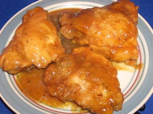 cuisses de poulet au miel et à la moutarde