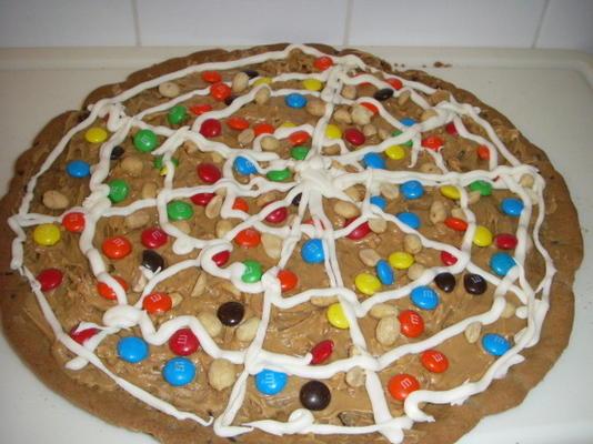 pizza de biscuit d'halloween de cacahuète