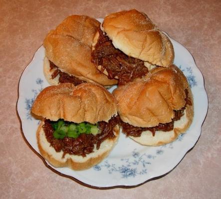 sandwichs au bœuf hachés mi-temps