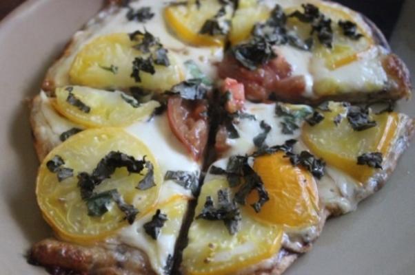 pizza mozzarella et basilic frais
