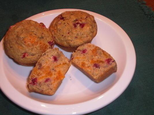 muffins à la canneberge et au blé entier