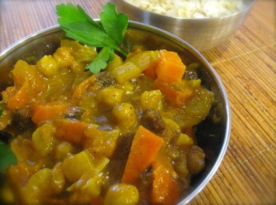 curry sucré de pois chiches