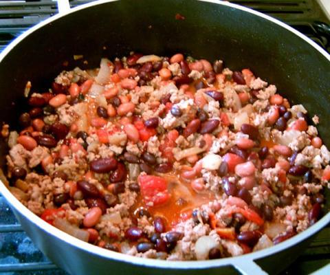 chili chipotle aux trois haricots