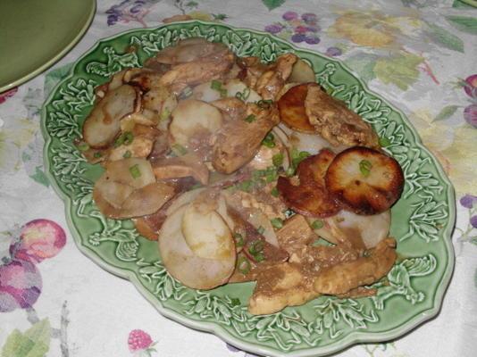 poulet à la moutarde balsamique avec pommes de terre