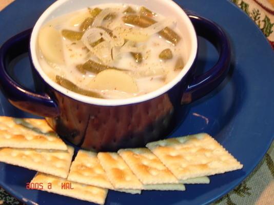 soupe aux haricots verts et aux pommes de terre