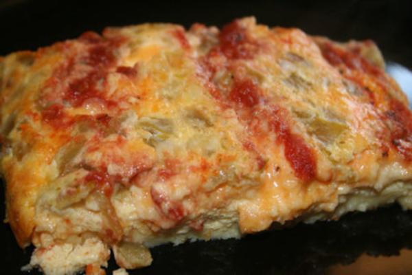carrés de quesadilla cuits au four