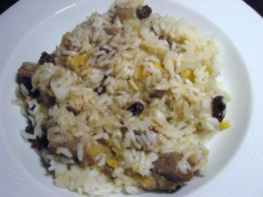 riz aux lentilles et dattes