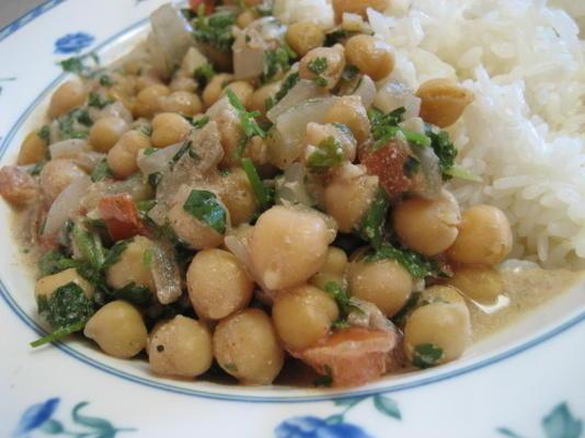 curry de pois chiches au yaourt