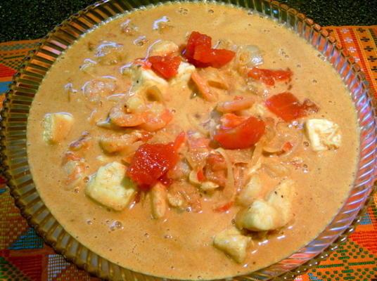 curry de fruits de mer (curu malu)