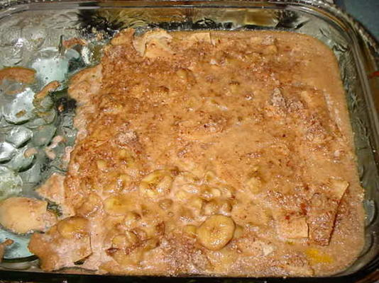 casserole de pommes, bananes et amandes