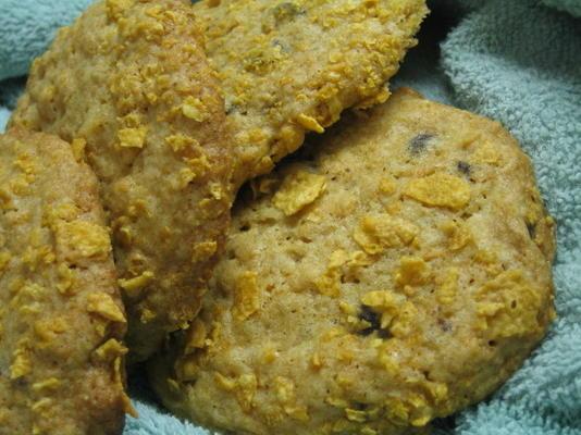 biscuits aux pépites de chocolat avec des flocons de maïs