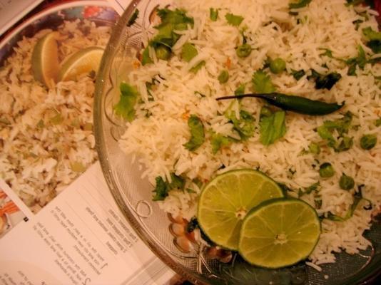 riz aux herbes vertes de noix de coco