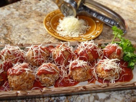 boulettes de riz à la saucisse italienne avec sauce marinara ragu
