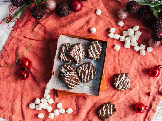 bonbons au chocolat au lait et à la guimauve