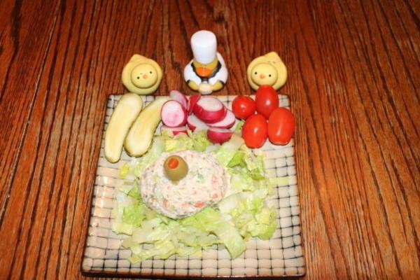 assiette de salade thon jante pacifique