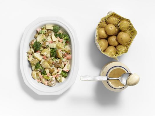 salade de pommes de terre végétarienne