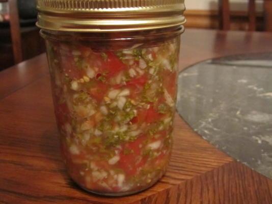 salsa épicée et cultivée