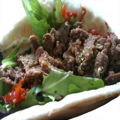filature de grils - shawarma de bœuf et d'agneau