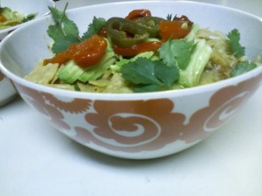 soupe tortilla au poulet et légumes