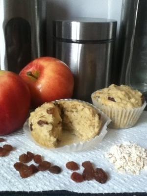 muffins aux pommes et aux raisins secs