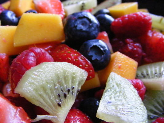 salade de fruits au sirop pomme vanille