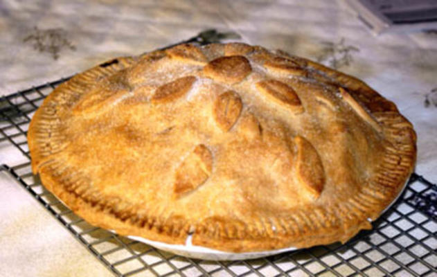 tarte aux pommes de récolte d'automne (végétalien)