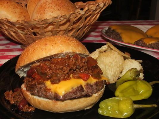 cheeseburgers chili et petits pains maison