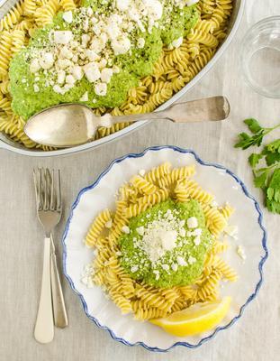 sauce pour pâtes au brocoli et feta