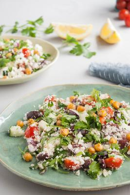 salade de couscous au chou-fleur méditerranéen