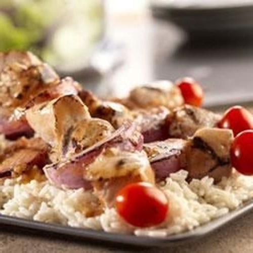 Brochettes de porc à l'ail