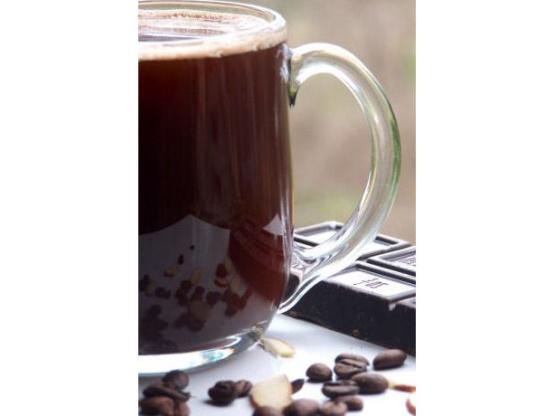 Café au chocolat aux amandes