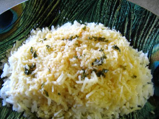 Riz au beurre parmesan