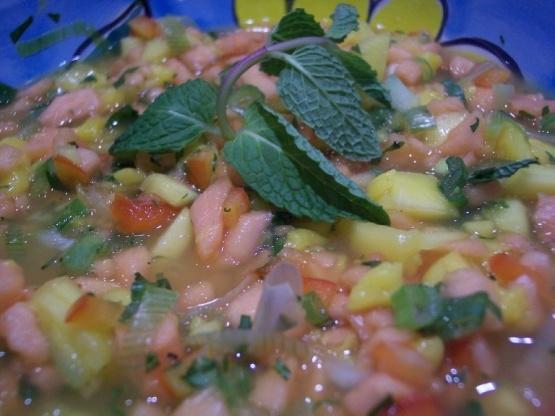 Salsa aux fruits tropicaux épicés