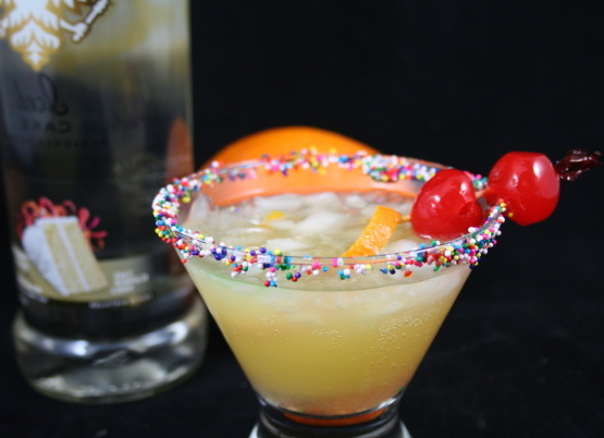 Smirnoff cocktail de gâteau à l'envers